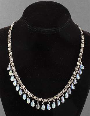 Vintage Chanel Chain & Beaded Drop Necklace 1997