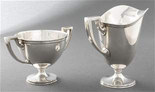 Tiffany & Co. Silver Cream Pitcher & Sugar Bowl