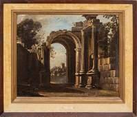 """Viviano Codazzi """"Capriccio"""" Oil on Canvas, 17th C."""