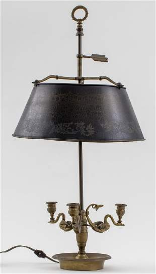 French Empire Manner Bronze Bouillotte Lamp