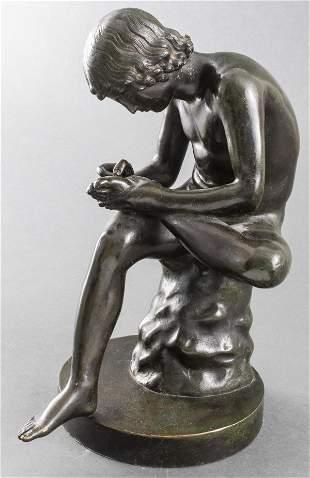 "Grand Tour ""Boy With Thorn"" Bronze Sculpture"