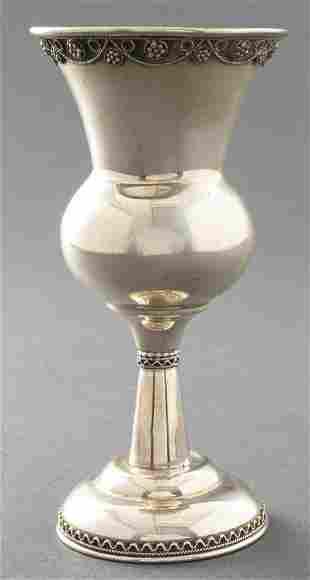 Judaica Silver Filigree Kiddush Cup