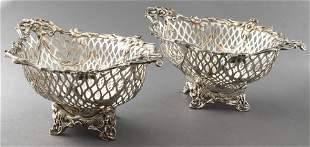 William Comyns English Silver Centerpiece Bowls Pr