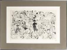"Al Hirschfeld ""Movieland '54"" Lithograph on Paper"