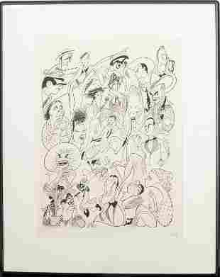 """Al Hirschfeld """"Shubert Theatre"""" Lithograph"""