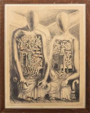 """Giorgio de Chirico """"The Archaeologists IV"""" Litho"""