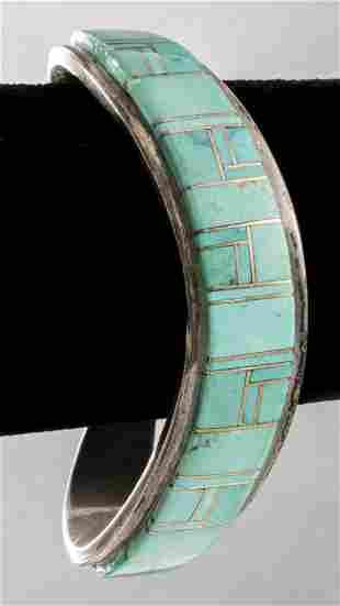 Tommy Jackson Navajo Silver Turquoise Bracelet