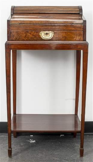 Regency Mahogany Writing Desk Slope On Stand