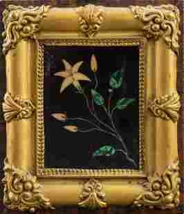 Italian Pietra Dura Plaque