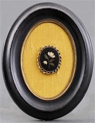 Italian Pietra Dura Oval Plaque