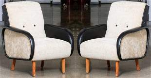 Marco Zanuso Style Leather Lady Armchairs, 2