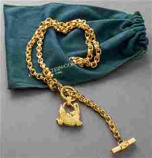 Kieselstein-Cord Gold-Tone Alligator And Link Belt