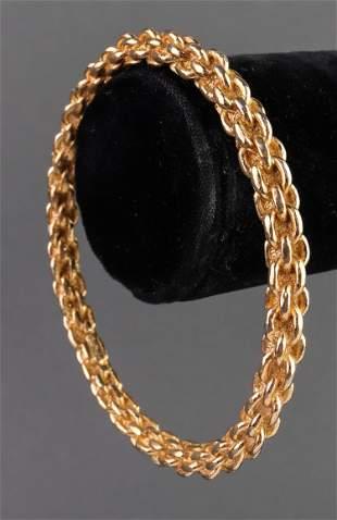 Christian Dior Chain Motif Rigid Bangle Bracelet