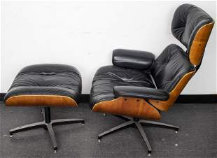 Frank Doerner Eames Style Lounge Chair & Ottoman