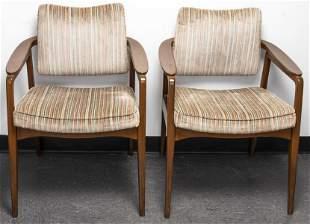 Sigvard Bernadotte John Stuart Teak Chairs, Pair