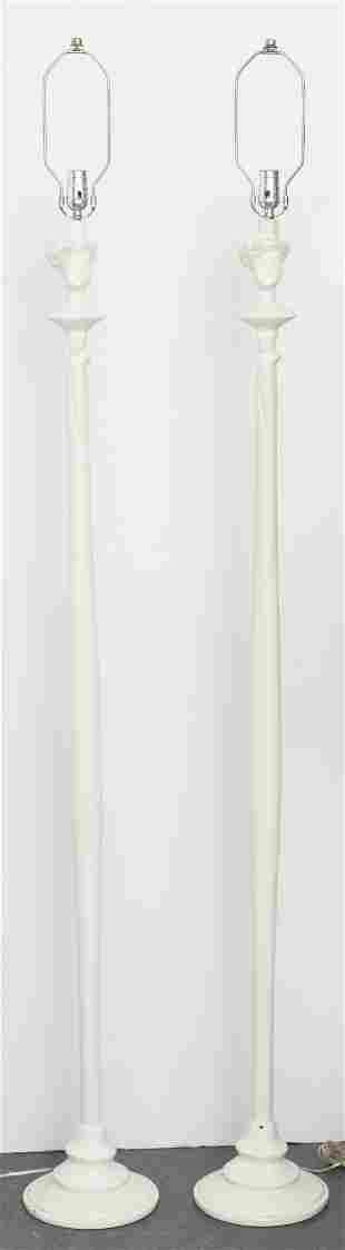 Diego Giacometti Attr. Figural Floor Lamps, Pr