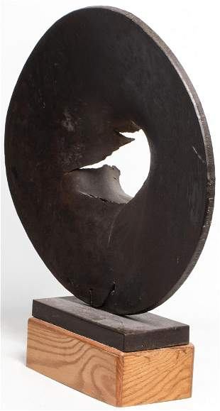 Lily Harmon Modern Abstract Steel Sculpture, 1976