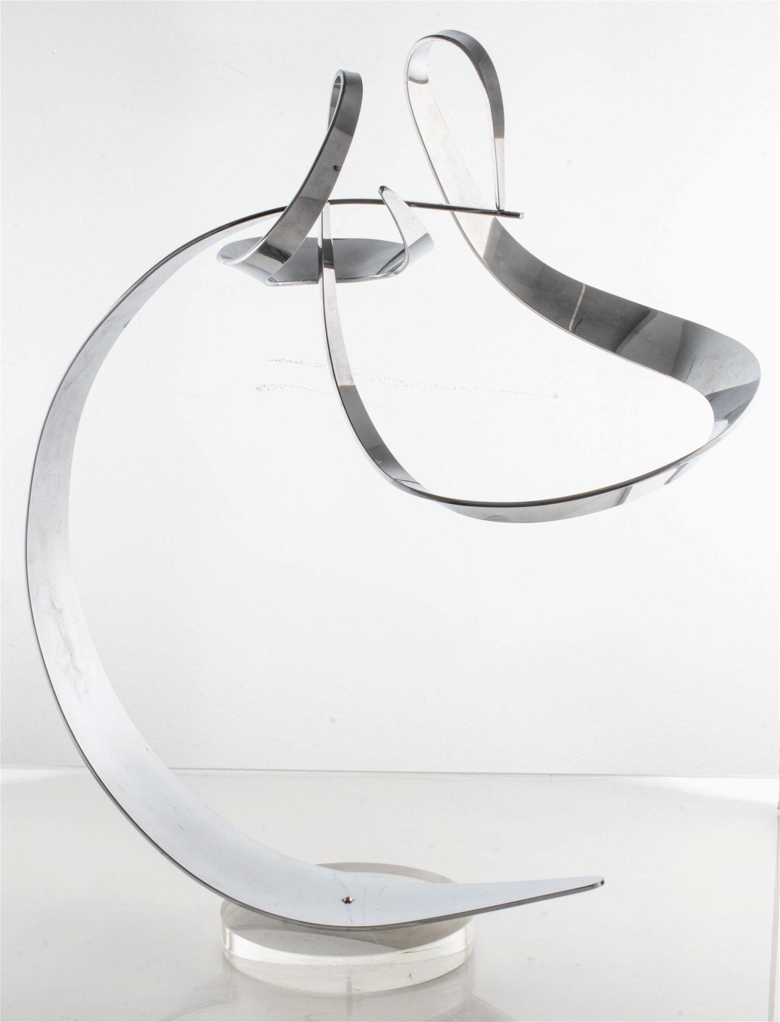 "Modern Chrome ""Arabesque"" Mobile Sculpture"