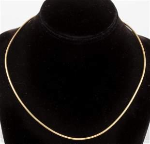 Milor Designer 14K Yellow Gold Snake Link Necklace
