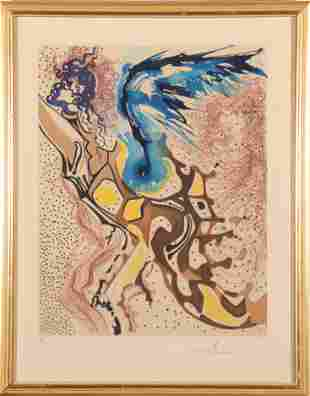 """Salvador Dalí """"Angels of Rebirth"""" Lithograph"""
