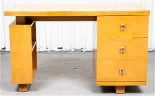Gilbert Rohde Attr. Blond Oak Desk