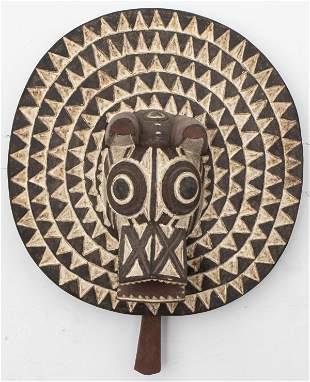 African Gurunsi Zoomorphic Mask, Burkina Faso