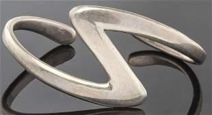 Vintage Taxco Mexican Silver Zig-Zag Cuff Bracelet