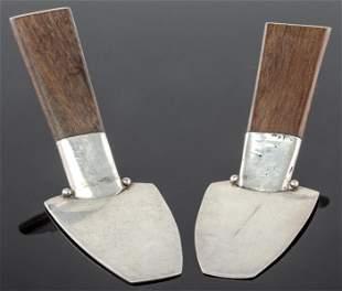 William Spratling Silver & Wood Serving Pieces 2