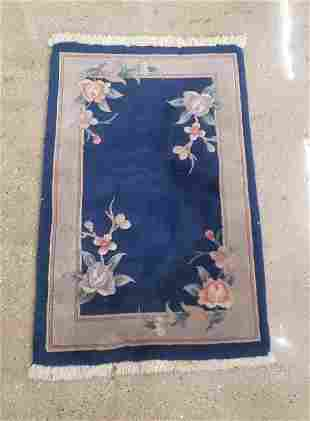 """Chinese Floral Carpet, 3' 2"""" x 2'"""