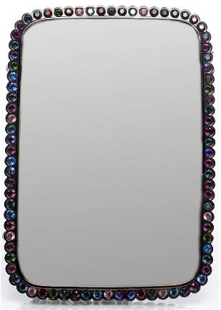 Jay Strongwater Metal and Rhinestone Picture Frame