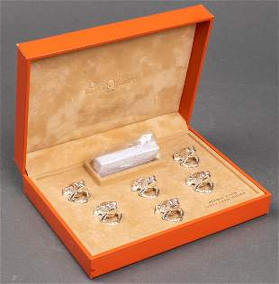 Set of 6 Saint Hillaire Frog Place Card Holders