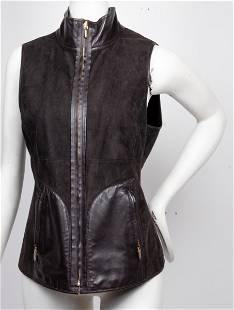 Croc Embossed Haircalf & Suede Reversible Vest