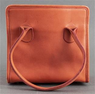 Coach Burnt Orange Leather Handbag