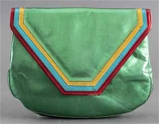 Vintage Charles Jourdan Green Leather Handbag
