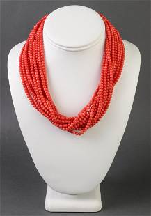 Kenneth Jay Lane Faux-Coral Torsade Necklace