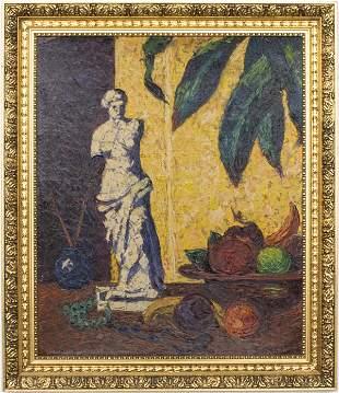 """Alexander Sideris """"Still Life"""" Oil on Canvas"""