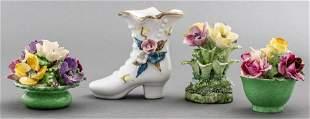 English Crown Staffordshire Porcelain Florals, 4