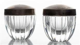 Baccarat Crystal Salt & Pepper Shakers, Pair