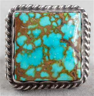 Native American Navajo Silver Turquoise Ring