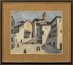 "Alegrio Fernandes ""Madrid Cityscape"" Oil on Canvas"