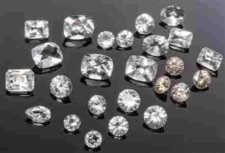 32.8 Cttw. Collection Colorless & White Gemstones