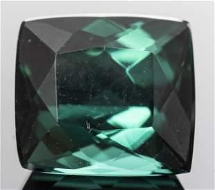 3.20 Ct. Loose Cushion-Cut Bluish Green Tourmaline