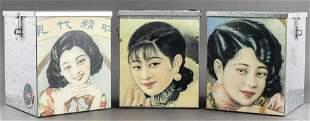 Vintage Decorative Metal Storage Boxes, 3 PCS.