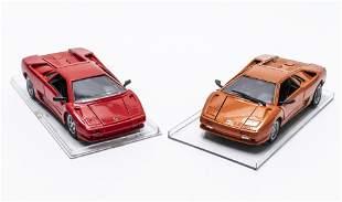 Lamborghini Diablo Die Cast Toy Cars, 2 PCS