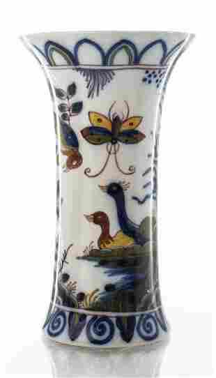 Dutch Makkum Handpainted Porcelain Vase