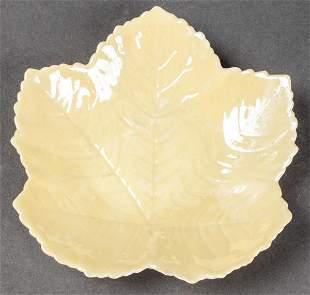 Belleek Maple Leaf Form Porcelain Tray