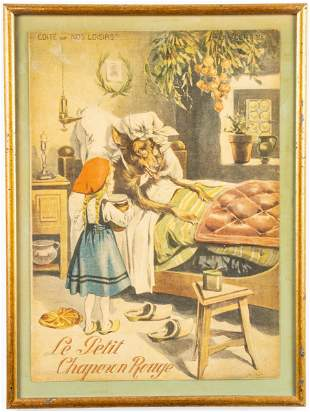 """Les Beaux Contes"" Offset Lithograph Book Cover"