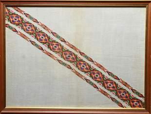 Folk Art Embroidered Tapestry Weaving