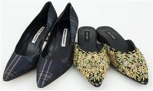 Manolo Blahnik & Rina Shah Women's Shoes, 2 Pair