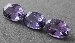 1.80 Cttw. Loose Oval Cut Purple Sapphires 3